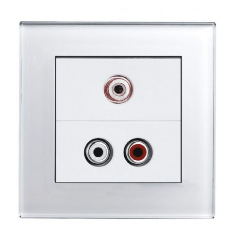 RetroTouch AUDIO / VIDEO Socket White Glass PG 00297